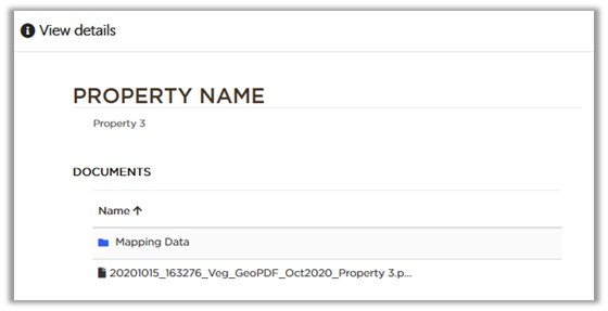 Image: Available property information
