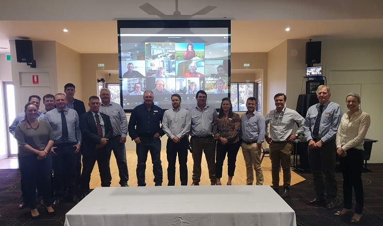 Cattle Board meeting in August 2020, group photo