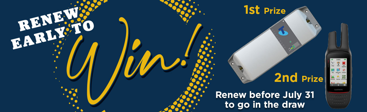 Renew your membership early and go in the draw to win!