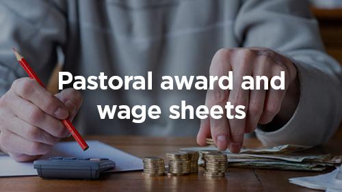 Pastoral award wage sheets